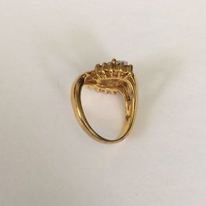 Vintage Jewelry - Vintage Ring Marquise Cut Center Stone 7.5